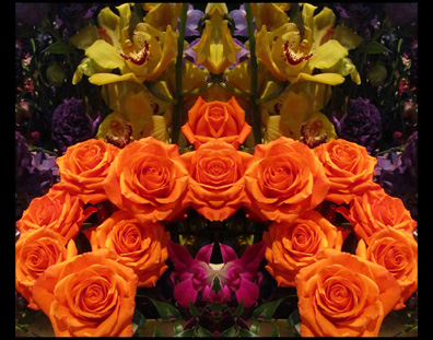 Orange Roses Yellow Orchids